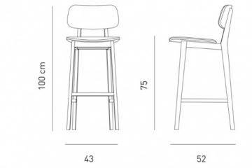 فایل اتوکد آبجکت صندلی پایه بلند کافه