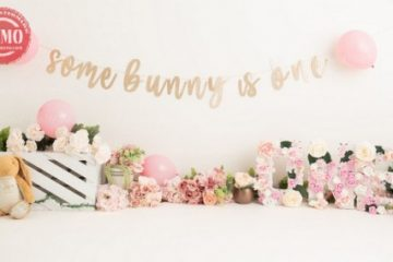 بک دراپ تولد تم گلهای بهاری -کد 6975