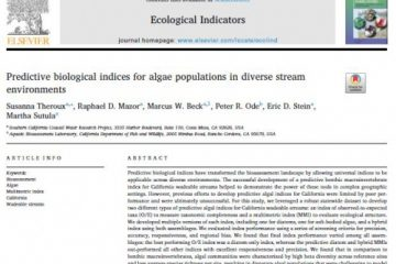 ترجمۀ مقاله Predictive biological indices for algae populations in diverse stream environments، شاخص های بیولوژیکی پیش بینی برای جمعیت جلبک ها در محیط های مختلف رود