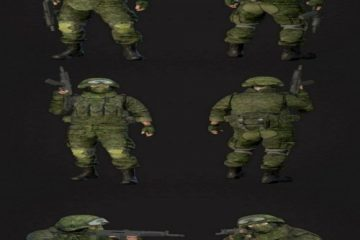 مدل سه بعدی سرباز به همراه تجهیزات
