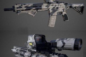 مدل سه بعدی اسلحه HK416 Assault rifle