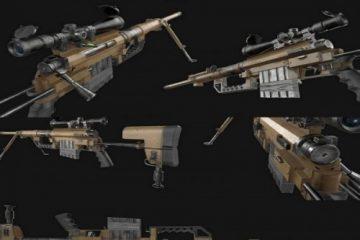 مدل سه بعدی اسلحه M200 Sniper Rifle