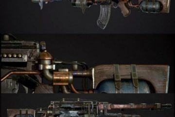 مدل سه بعدی اسلحه از بازی Metro Exodus