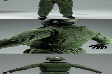 مدل سه بعدی یونیفورم نظامی Military uniform