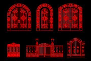 فایل اتوکد آبجکت انواع دروازه ی آهنی سری دوم