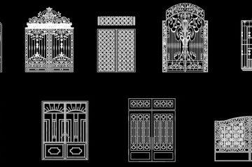 فایل اتوکد آبجکت انواع دروازه ی آهنی سری اول
