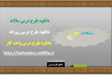 دانلود طرح درس– مطالعات اجتماعی چهارم  - نواحی آب وهوایی ایران   (روش کارایی تیمی)