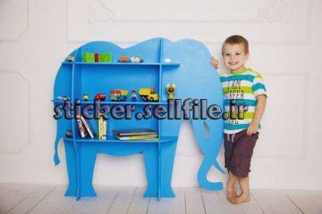 دانلود الگوی برش شلف کودک طرح فیل-کد2125