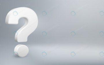 نماد علامت سوال ۳ بعدی