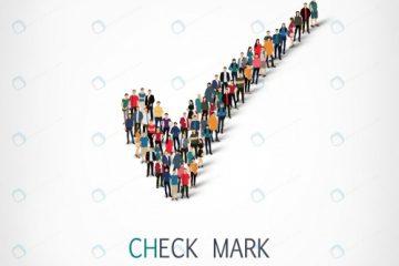 چک مارک با طرح گروهی از مردم