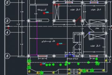 نقشه ساختمان 163.75 متری ابعاد زمین 14.75 در 11.97سه خوابه