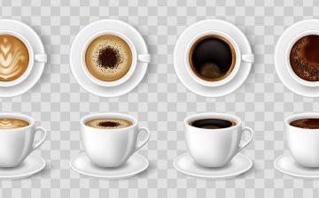 مجموعه رئال فنجان قهوه و کاپوچینو