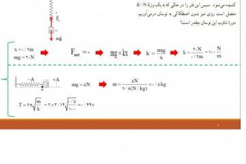 power point    حل تمرین فصل سوم فیزیک پایه داوزدهم تجربی نظام جدید