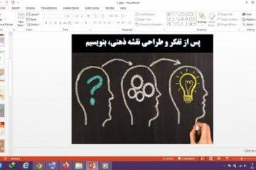 دانلود پاورپوینت پس از تفکر و طراحی نقشه ذهنی بنویسیم درس 1 نگارش پایه هشتم