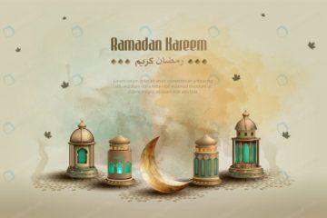 پوستر مذهبی با اِلمان های رمضان