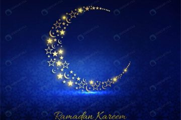پوستر رمضان طرح ماه و ستاره