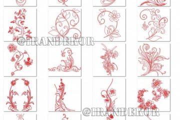 دانلود طرح های گل، دکور، عناصر تزئینی - کد 81785 - طرح های وکتور