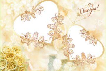 طرح لایه باز قاب عکس و فریم برای فتوشاپ با موضوع جشن عروسی