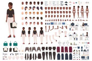 کیت ساخت زن آمریکایی - افریقایی