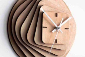 دانلود الگوی برش ساعت - طرح اشکال هندسی کد2171