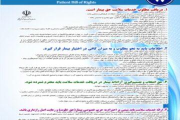پوستر منشور حقوق بیمار در دندانپزشکی- مجموعه پوسترهای دندانپزشکی
