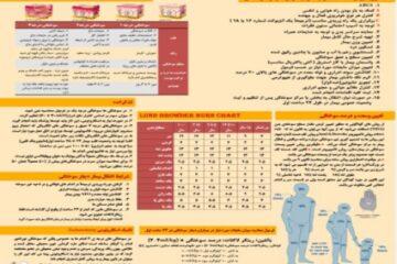 پوستر سوختگی ( راهنمای جامع برخورد با سوختگی ها ویژه کادر درمان)