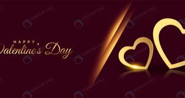 بنر تبریک روز ولنتاین با فرمت وکتور