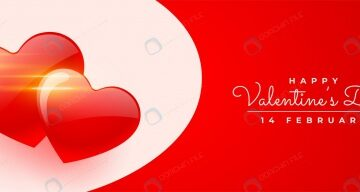 بنر تبریک روز ولنتاین