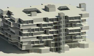 فایل Revit پروژه آماده هتل با جزییات کامل